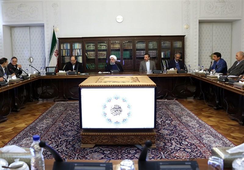 O presidente Hassan Rouhani pede diversificação das exportações não petrolíferas do Irã