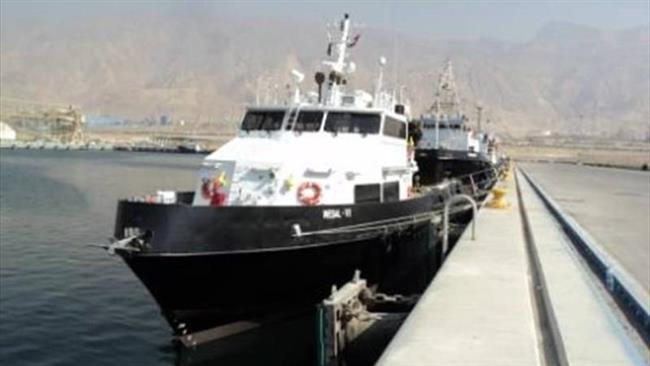 IRGC do Irã lança novo barco tripulação Parmida