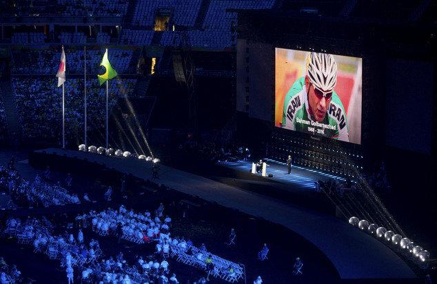 Tributes paid to late Iranian cyclist Golbarnezhad at Paralympics closing ceremony