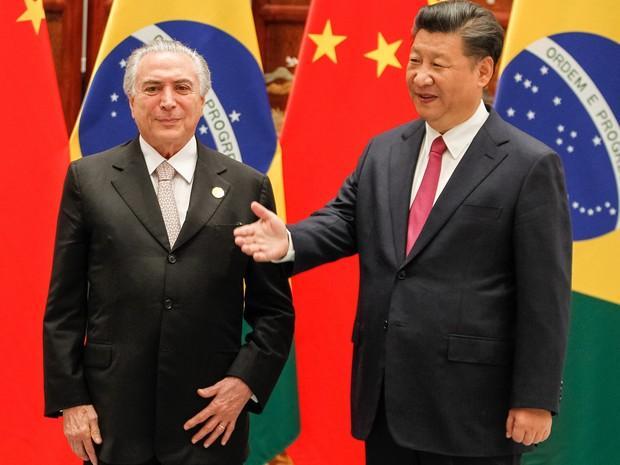 Temer chega à China em sua 1ª viagem internacional como presidente