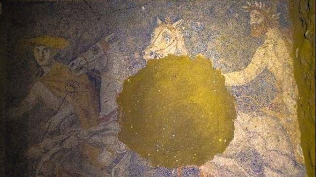 Arqueólogos descobrem mosaico piso gigante na Grécia