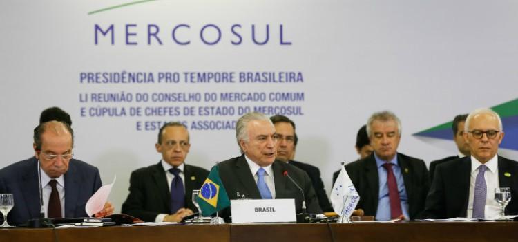 Temer diz que o Mercosul recuperou sua vocação original