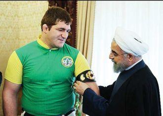 President Rouhani meets Asian Games medal winners Hadadi and Hadi