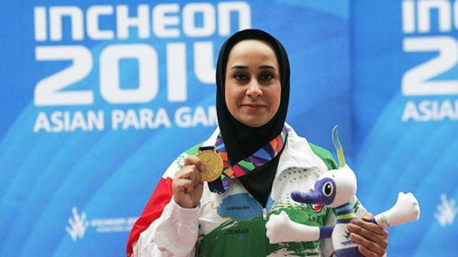 Irã atirador chamado 2014 top esportista Paralymic da Ásia
