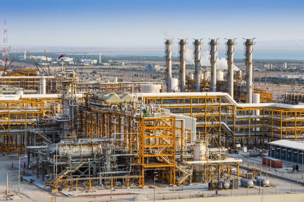 O refino diário de gás do Irã excede 800 mcm