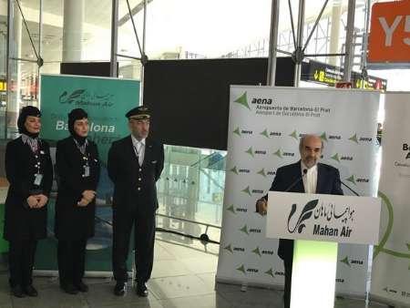 Começam vôos diretos Teerã-Barcelona