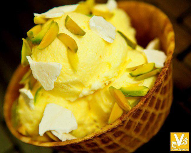 Persian Saffron Ice Cream; Delicate Dessert for Hot Days