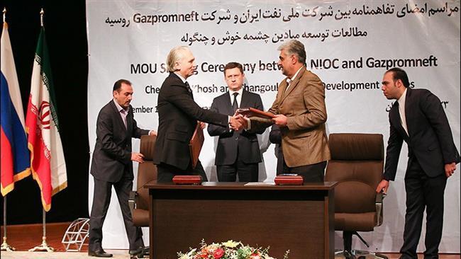 Gazprom apresenta propostas técnicas para projetos de petróleo iranianos