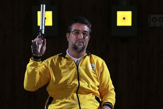 Zamani do Irã ganha medalha de ouro na World Shooting Para Sport World Cup na modalidade P1 10m Air Pistol Men SH1