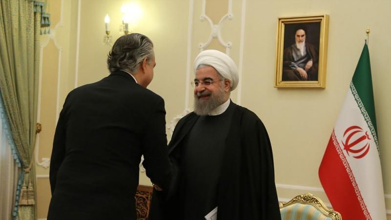 Presidente Rouhani recebeu cartas credenciais dos embaixadores do Brasil, Portugal e Quirguistão