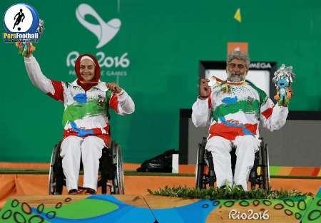 Equipe Paralímpica mista do Irã de tiro com arco termina segunda no mundo