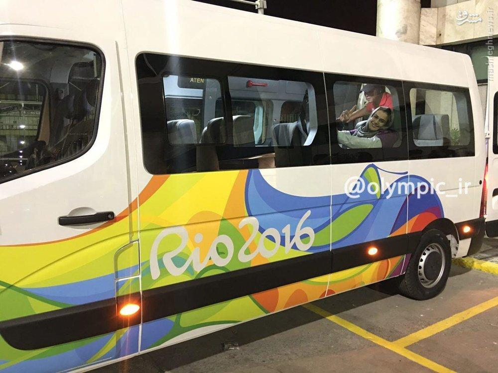 Iran's flagbearer Zahra Nemati arrives in Rio de Janeiro