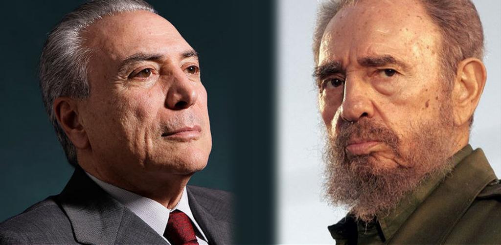 Michel Temer lamenta morte de Fidel Castro