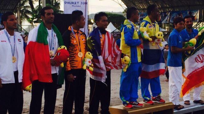 Irã esquadrão futevôlei termina segunda em Jogos Asiáticos de Praia