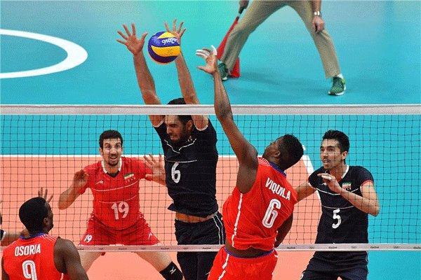 Seleção masculina de vôlei do Irã vence Cuba no Rio