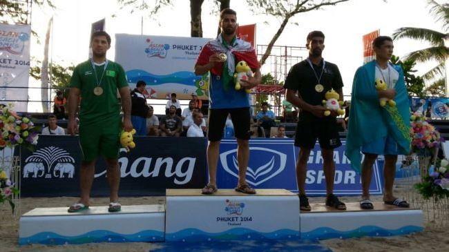 Wrestlers Irã ganha mais duas medalhas de ouro nos Jogos Asiáticos de Praia