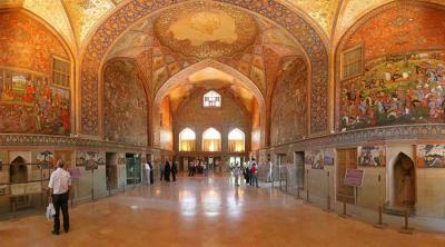 Venha conosco ao Irã - 21 - província de Isfahán - palácio-museu Chehel-Sutun