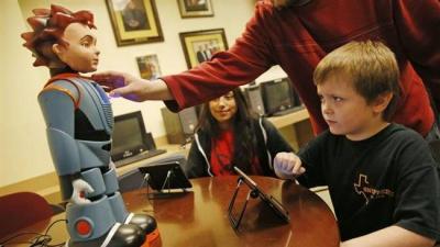 US company unveils robot to help autistic children