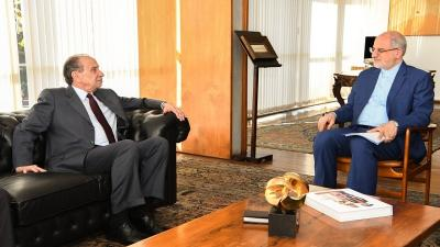 The special envoy of the Foreign Ministry of Iran was received by Minister Aloysio Nunes