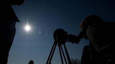 Total solar eclipse cloaks North Atlantic Ocean