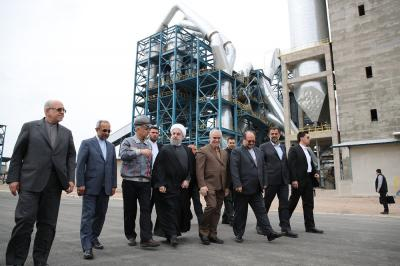 Rouhani inaugurates $130m cement plant