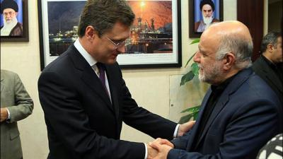 Russian energy minister arrives in Iran.