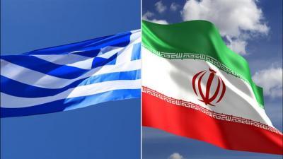 Do Irã 'maior' equipe comercial para visitar a Grécia.