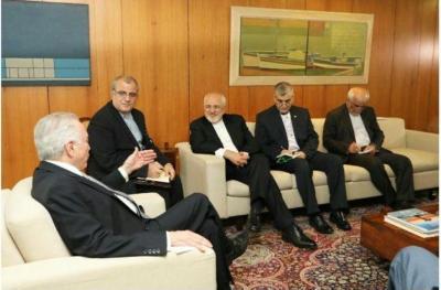 Zarif se reúne com presidente do Brasil e pede moedas nacionais em laços comerciais