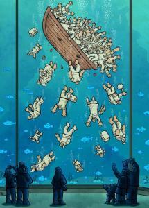 Cartunista iraniano vence Grand Prix na exposição brasileira