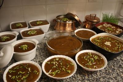 Iranians go through ritual of Samanu-pazan to welcome Noruz
