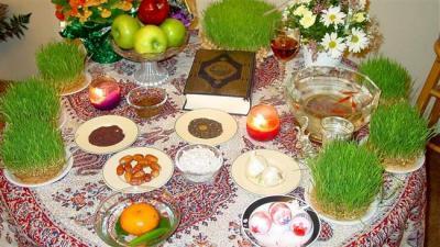 Iranians celebrating beginning of Persian New Year