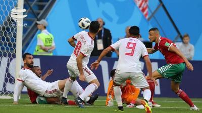 Irã vence Marrocos com gol contra nos acréscimos