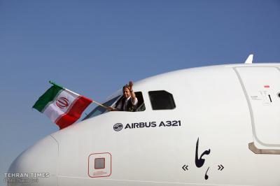O terceiro Airbus do Irã chega em Teerã
