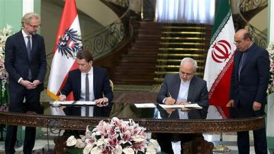 Teerã, Viena assinaram 15 acordos de cooperação.