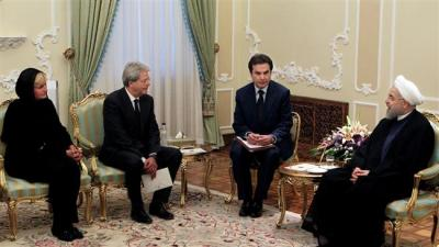 Itália para financiar 2 bilhões de dólares projectos no Irã.