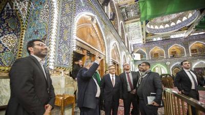 Embaixador do Brasil no Iraque visita santuário de Abolfazel-al-Abbas na cidade santa de Karbala
