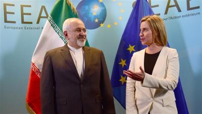 Do Irã Zarif, Mogherini UE discutir negociações nucleares, laços em Bruxelas
