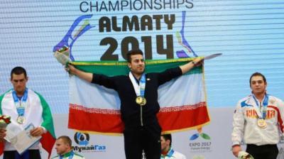 Irã malas atleta ouro no Campeonato Mundial de Levantamento de Peso