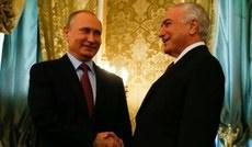 Temer and Putin discuss Brazil's economic progress