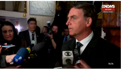 Bolsonaro arrives in Davos, says he is going to seek business 'without ideological bias' and that he will make 'very short' and 'objective'