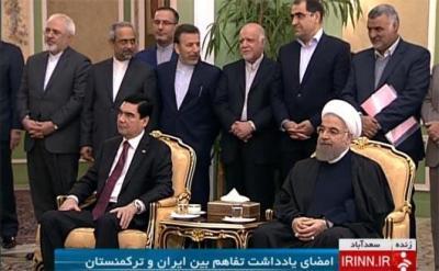 Irã e Turcomenistão assinaram dois memorandos de entendimento em setores de energia elétrica e transporte
