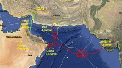 Índia persiste para plano submarino do gás do Irã