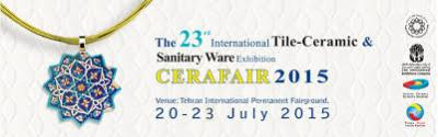 The 23rd International Tile Ceramic & Sanitary Ware Exhibition,20 - 23 July 2015,Tehran/Iran.