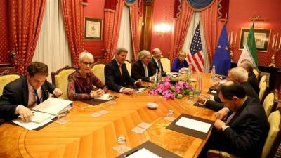 De nível três negociações nucleares entre Irã, União Européia, EUA final em Lausanne
