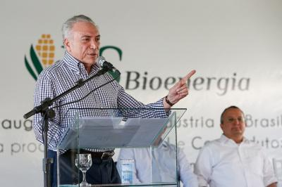 Temer highlights economic growth at plant inauguration ceremony