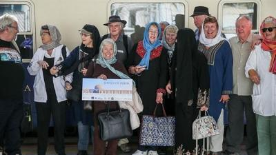 Europe train tourists on Iran odyssey