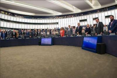 Parlamento Europeu faz um minuto de silêncio em respeito pelas vítimas do ataque terrorista em Teerã