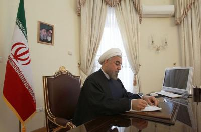 O presidente Rouhani felicita a reeleição do chanceler alemão