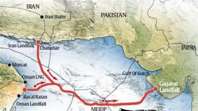 Gasoduto submarino deve levará o gás do Irã para a Índia
