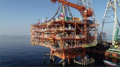 Irã completa a fase 14 do campo de gás de South Pars